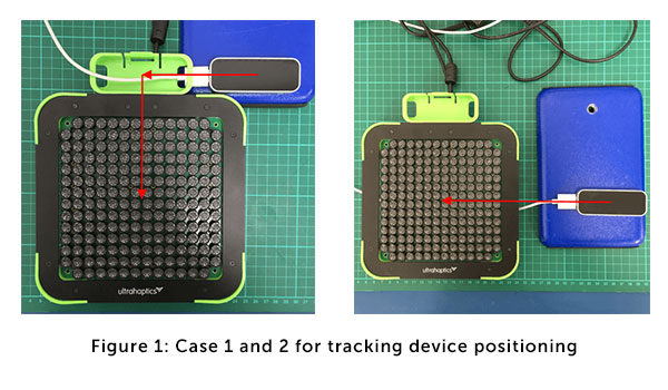 Tracking device positioning