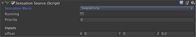 Simple Circle with offset Sensation Source UCA