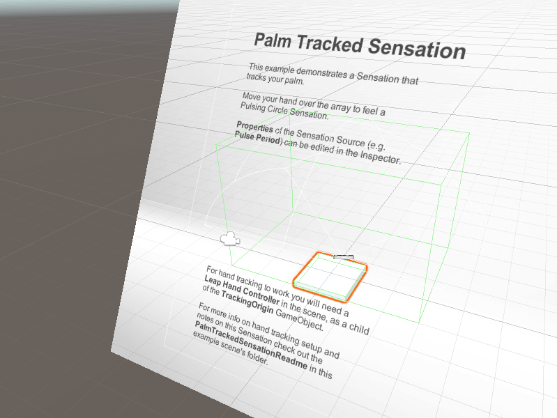 Tutorial 6 palm tracked sensation